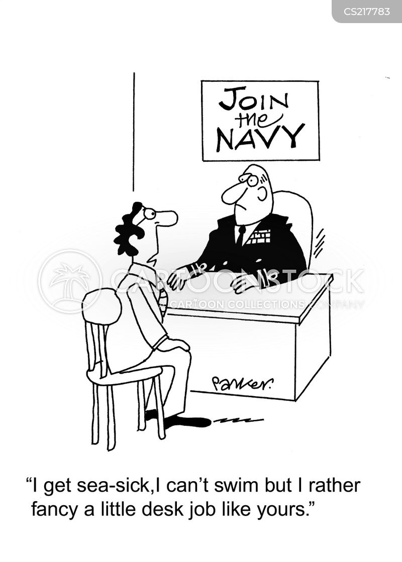 navy recruit cartoon