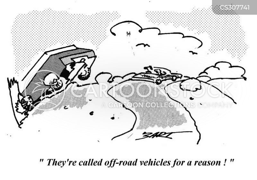 off-road vehicles cartoon
