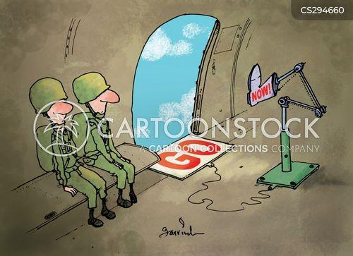parachute jumps cartoon