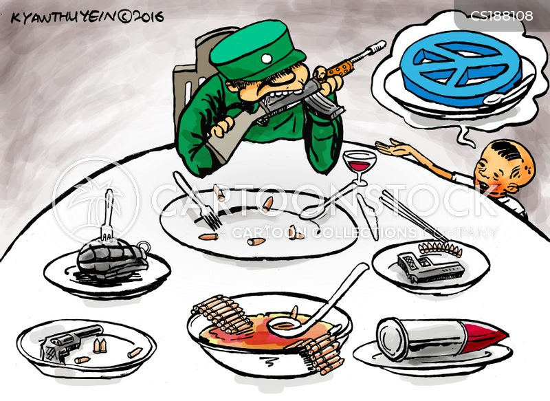 peace negotiations cartoon