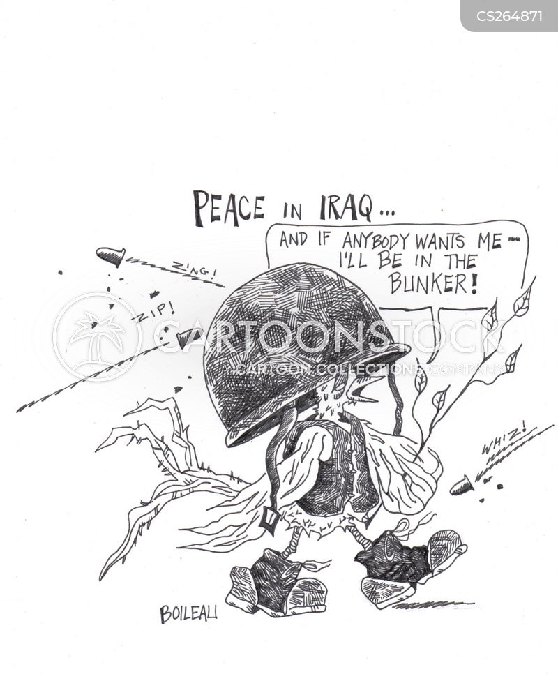 peace in iraq cartoon
