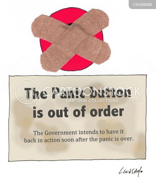 panic button cartoon