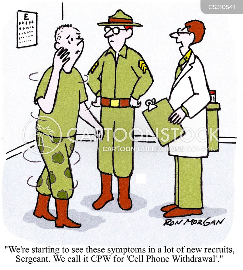 withdrawal symptoms cartoon