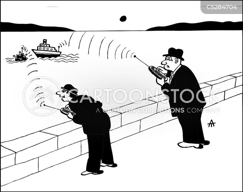 naval mines cartoon