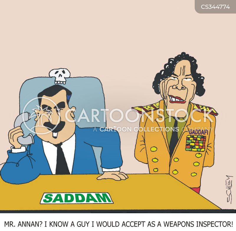 weapons inspector cartoon
