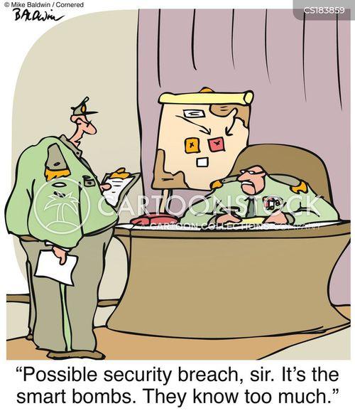 security breach cartoon