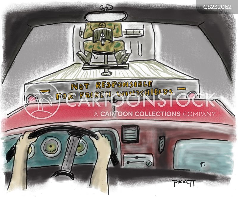windshields cartoon