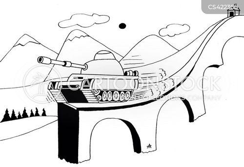 tank warfare cartoon