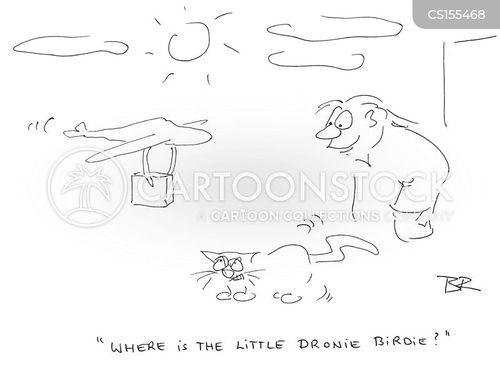 drone deliveries cartoon
