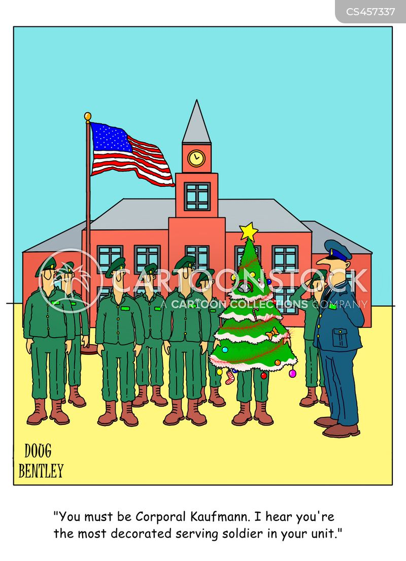 decorated officers cartoon