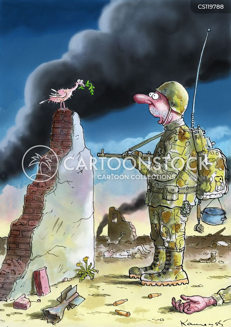 Symbols Of Peace Cartoons And Comics Funny Pictures From Cartoonstock