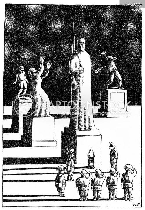 war memorials cartoon