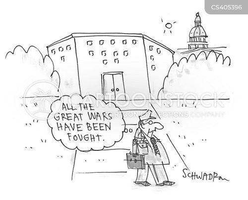 military career cartoon