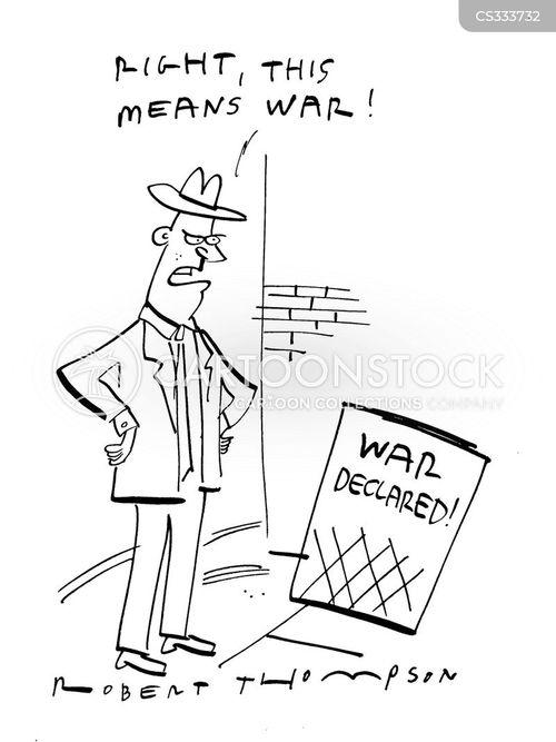 war declared cartoon