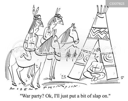 war paint cartoon