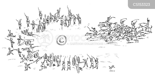cavalry charge cartoon