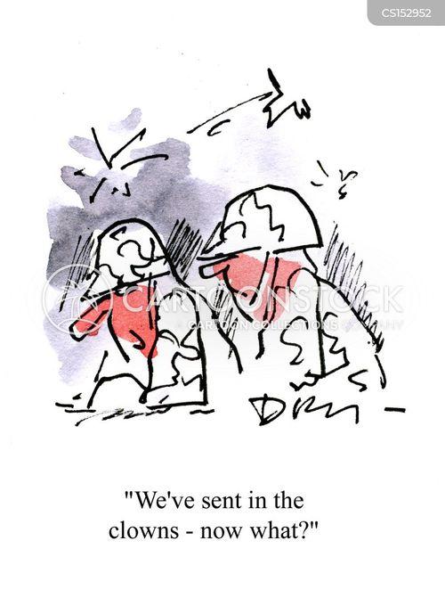 war strategy cartoon