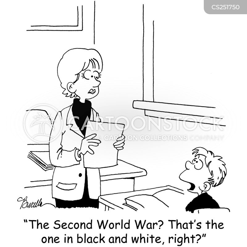 2nd world war cartoon