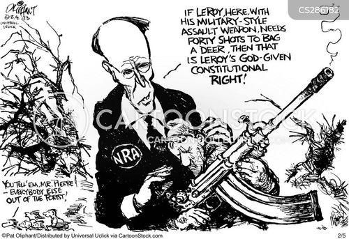 assault weapons cartoon