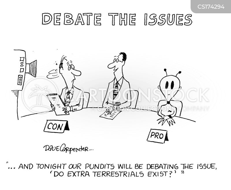debating cartoon