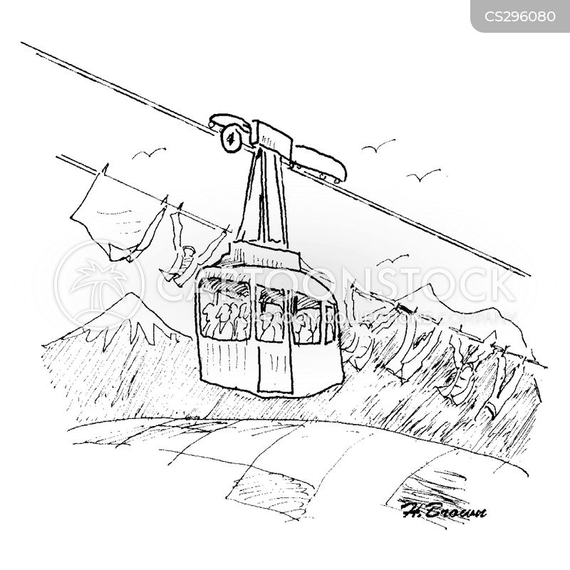 cable cars cartoon