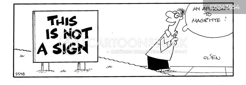 confusing sign cartoons and comics funny pictures from cartoonstock