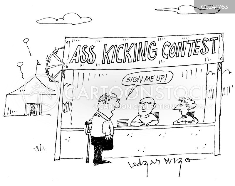 Ass Kicking Contest cartoons, Ass Kicking Contest cartoon, funny, Ass Kicking Contest picture, Ass Kicking Contest pictures, Ass Kicking Contest image, Ass Kicking Contest images, Ass Kicking Contest illustration, Ass Kicking Contest illustrations