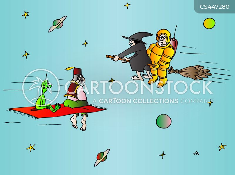 space travels cartoon
