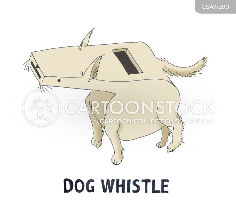 dog whistles cartoon