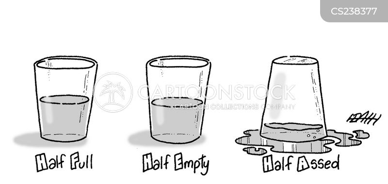 glass half-full cartoon