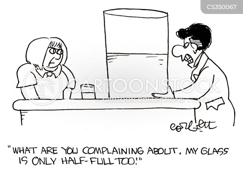 glass half empty cartoon