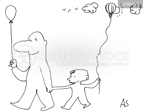balloon strings cartoon