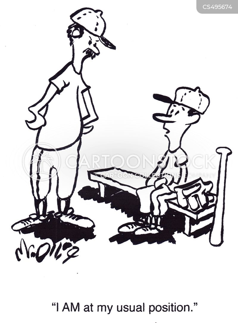 benched cartoon
