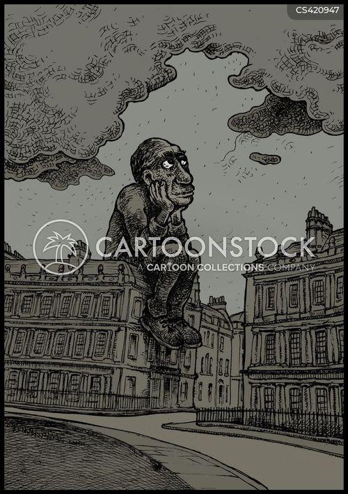 pondering cartoon