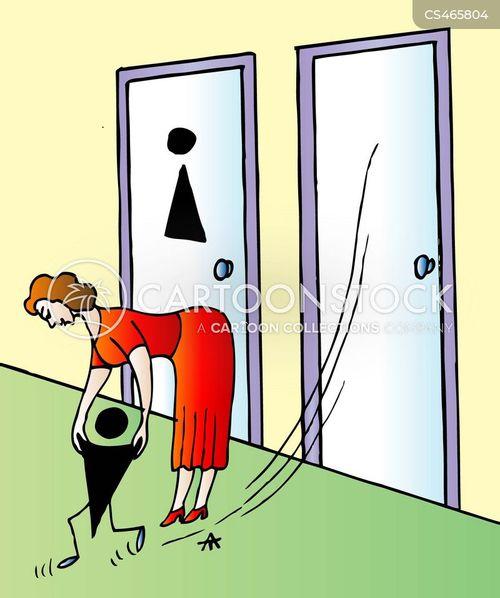 Bathroom Signs Cartoon 3 Of