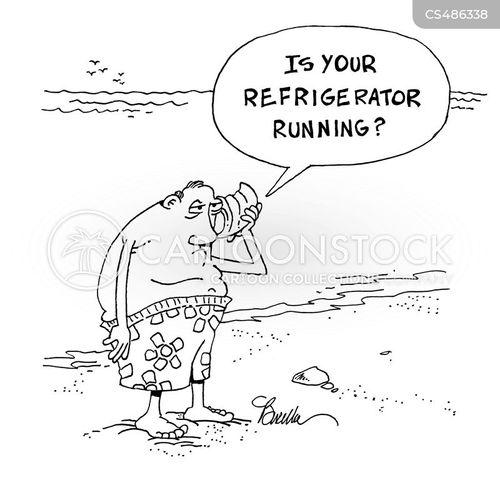 household appliance cartoon