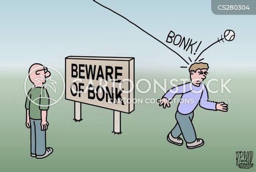 bumping cartoon