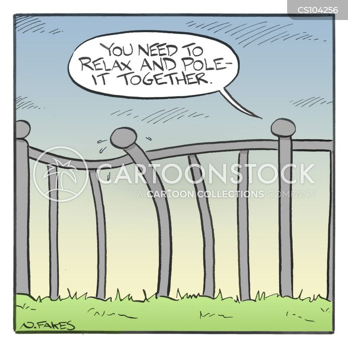 railing cartoon