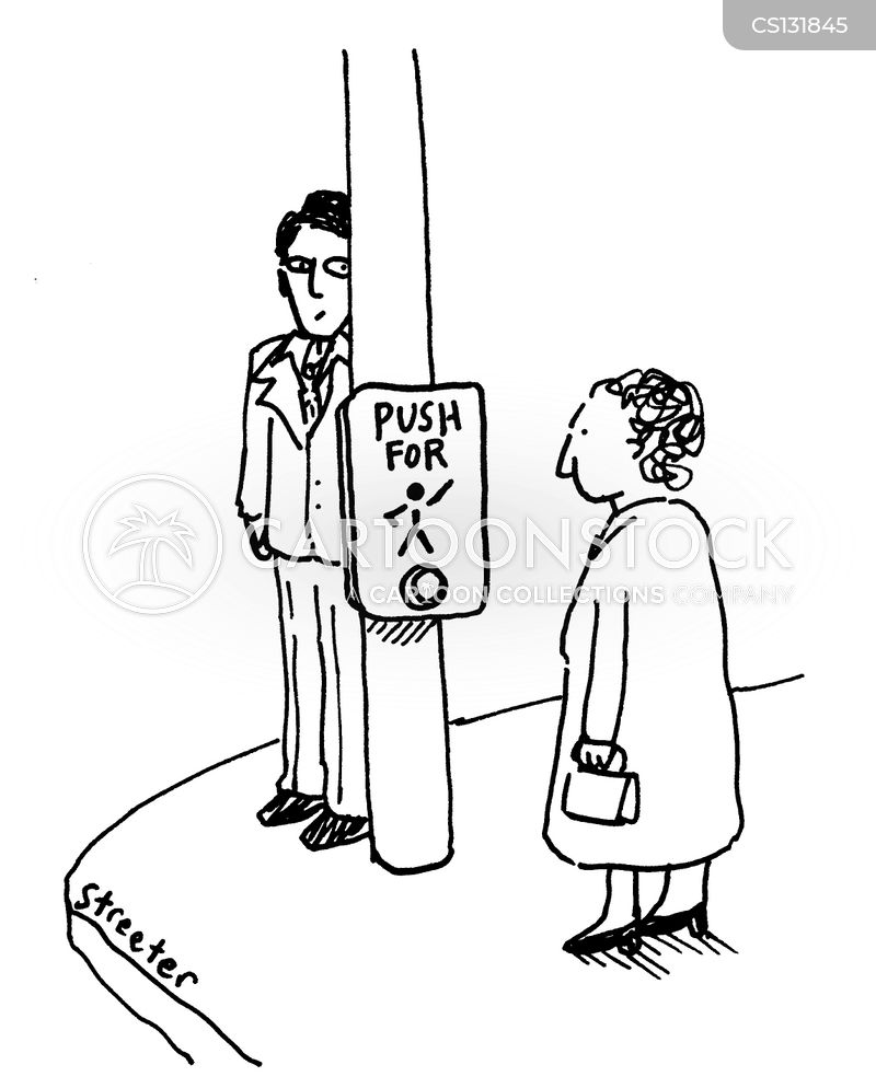 crosswalk cartoon