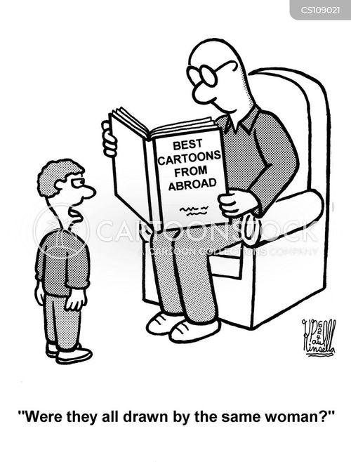 cartoon book cartoon