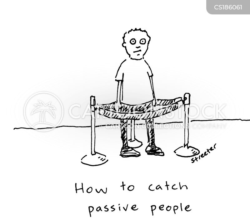 passive cartoon
