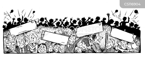 pep rally cartoon