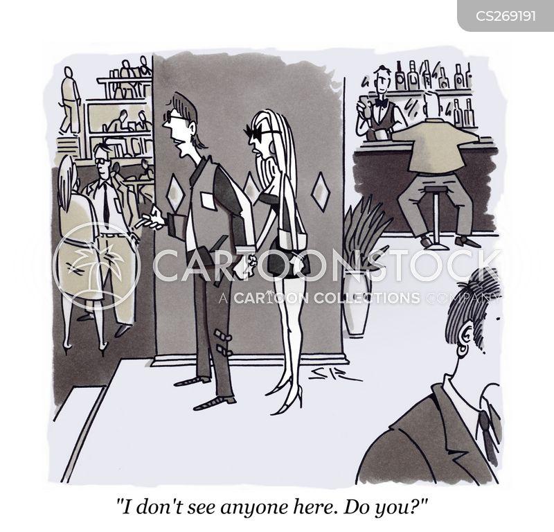 dark glasses cartoon