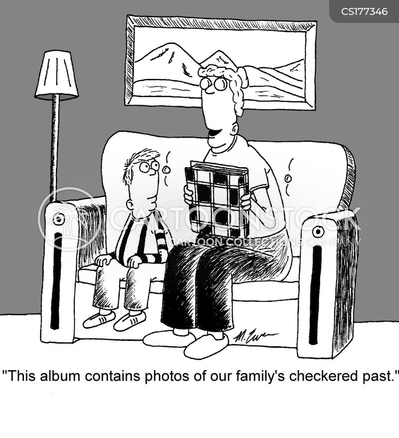 family photo album cartoon