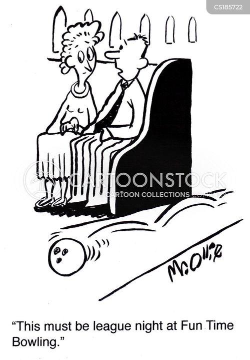 bowling league cartoon