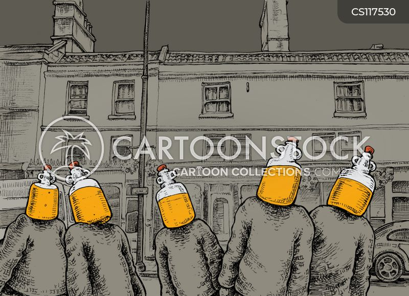 cider drinker cartoon