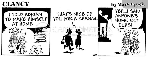 unwanted guest cartoon