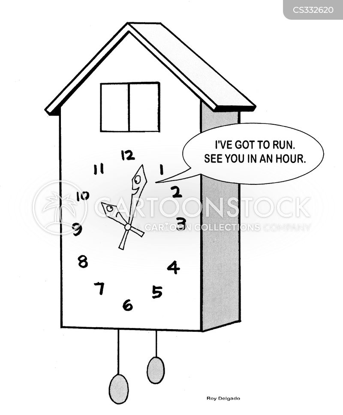 keeping time cartoon