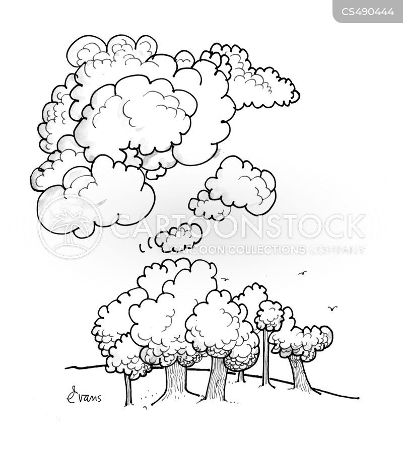 thought clouds cartoon