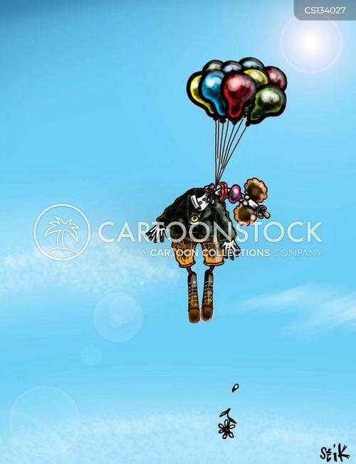 clown suicide cartoon